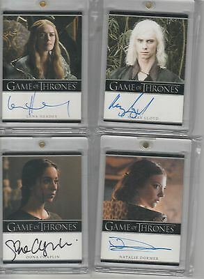 Game Of Thrones Season 4 Auto Oona Chaplin Bordered Autograph No Miscut