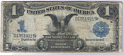 1899 $1 Black Eagle Silver Certificate Large Size Note Bill Lyons Roberts