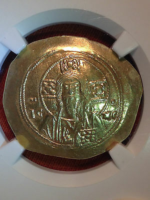 Byzantine Empire Michael VII 1071 AD Gold Histamenon obv Christ NGC MS Mint 5/5