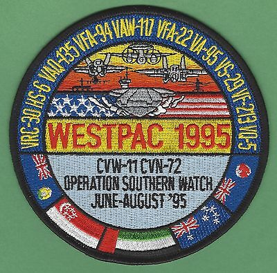 Cvn-72 Cvw-11 Uss Abraham Lincoln Operation Southern Watch Westpac 1995 Patch