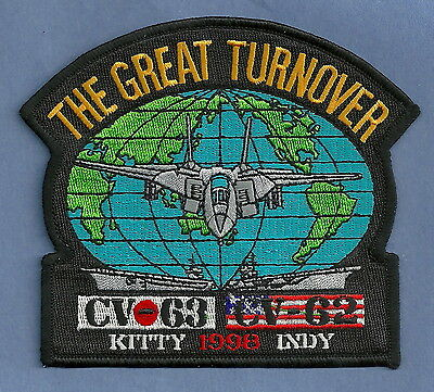 Cv-63 Uss Kitty Hawk Cv-62 Uss Independence 1998 Great Turnover Cruise Patch