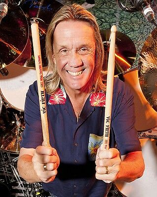 Nicko Mcbrain Glossy 8x10 Photo  3