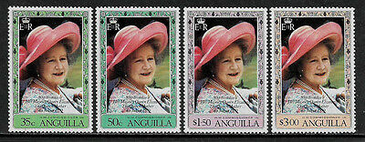 Anguilla 394-7 Mint Never Hinged Set - Queen Mother