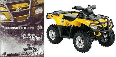 2006 Can-Am Outlander 400 800 MAX XT Service Manual on a CD