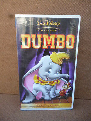 rare vintage VHS DUMBO (1941)  In SPANISH - DISNEY tape PAL-N ARGENTINA