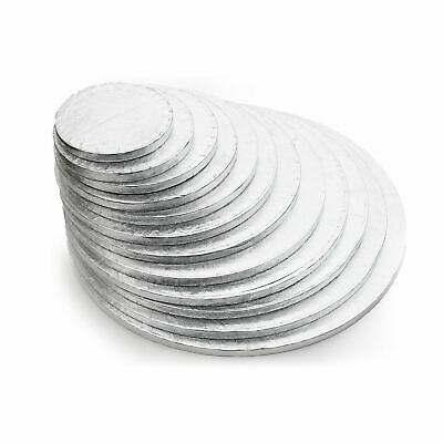 Silver Round Cake Drum Boards 12mm Strong Base 4 - 20 inches - Free Postage