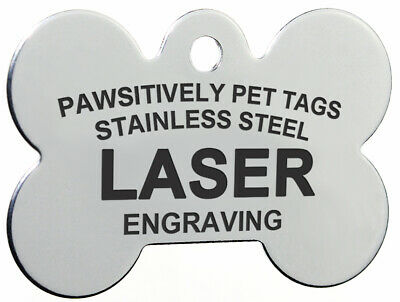 Custom LASER Engraved Personalized Stainless Steel Pet ID Tags Dog & Cat