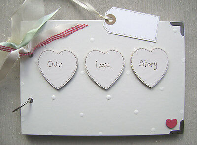 Personalised  Our Love Story  .a5  Size... Photo Album/scrapbook/memory Book.
