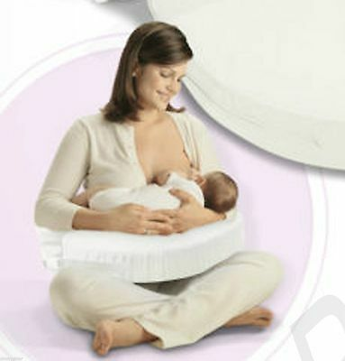 White Breast Feeding Nursing Baby Support Pillow Memory Foam Washable Cover