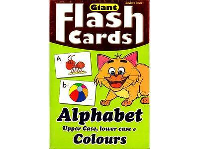 New Giant Flash Cards Alphabet Large Size Educational Upper & Lower Case ABC