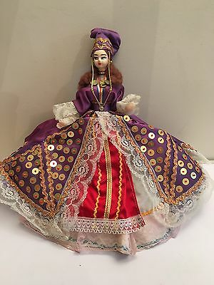 Vintage Traditional National Dress Doll 32cm Tall VGC