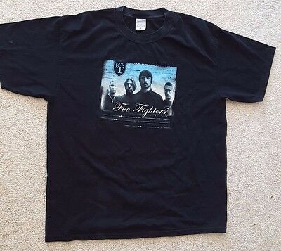 Foo Fighters T shirt black size XL 100% cotton