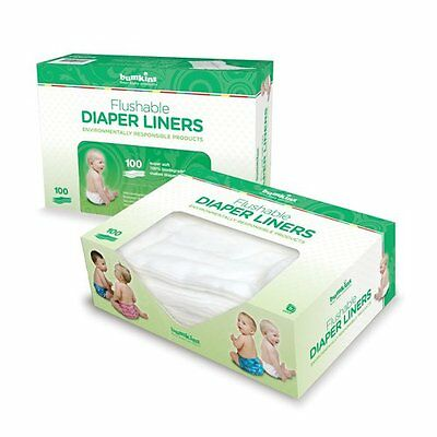 Bumkins Flushable Diaper Liners, 100 liners, 2 Pack, Neutral Discontinued by