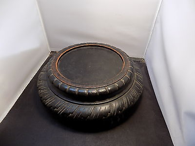 vintage antique chinese carved wood stand