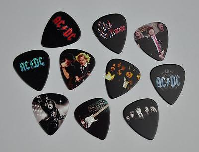 Bon Scott Angus Young Ac/dc Guitar Picks 10 Lot New Double Sided Image Free Ship