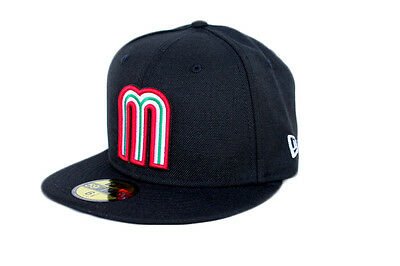 Mexico World Baseball Classic WBC  New Era 59FIFTY Fitted Hat - Black