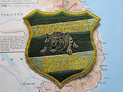PATCH , Montana Fish And Game Department Patch  , recreation PATCH