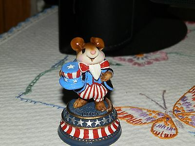 "Wee Forest Folk -MOUSE FIGURINE-""Uncle Sammy""- LTD 4"