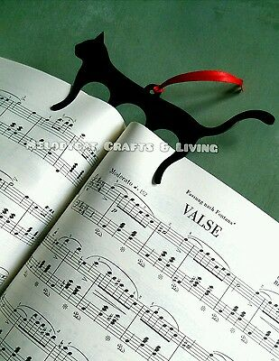 Large Page Marker Holder Bookmark for Music Books, Metal - Cat