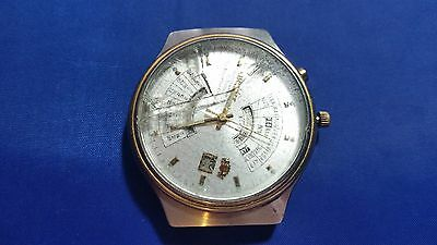 Vintage Orient Multi-Year Calendar 21 jewels Automatic Men's Watch for parts