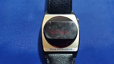 Vintage Texas Instrument RED LED Men's Watch for parts