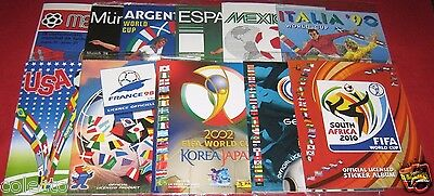 Panini FIFA World Cup 70 to 2010 No Stickers Lot Album Images Complete Reprint