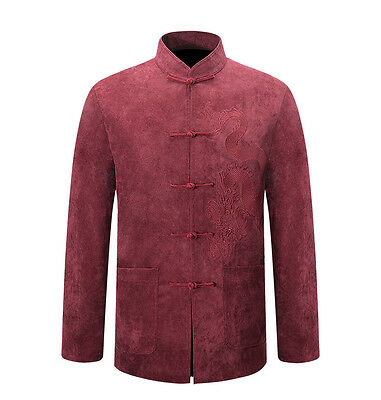 New Arrival Brand Chinese Traditional Men's Embroider Kung Fu Jacket Coat M-4XL