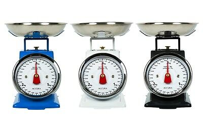 NEW ACCURA ERSA MECHANICAL KITCHEN SCALE Scales Dial Platform Retro Food