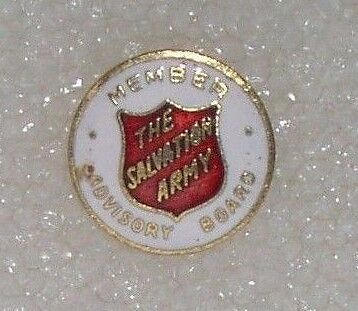 Vintage Salvation Army Advisory Board Member Tac  Pin