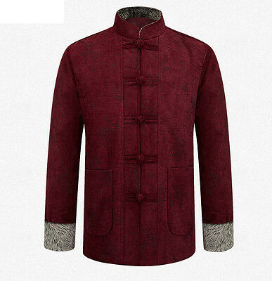 Brand Top Grade Brand Chinese Traditional Men's Thick Kung Fu Jacket Coat M-3XL