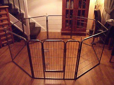 BUNNY BUSINESS Heavy Duty Dog Run Puppy Play Pen Whelping Cage Pet Enclosure ...