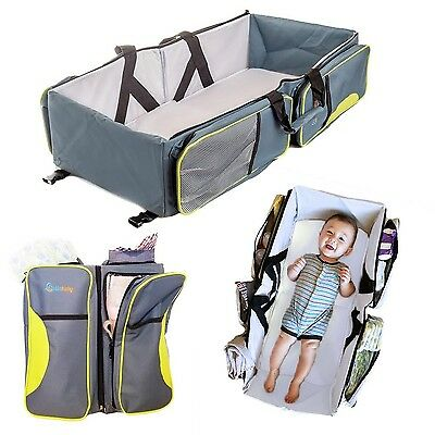 Travel Portable Bassinet- 3 in 1 Diaper Bag, Travel Crib, & Portable Changing...