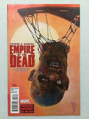 Empire of the Dead Act One #3 Marvel 1st Print George A Romero Alex Maleev 2014