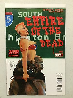 Empire of the Dead Act One #4 Marvel 1st Print George A Romero Alex Maleev 2014