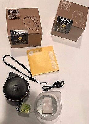 Smart Bagel Labs World's Smartest Tape Measure (White) With Phone App - In Hand