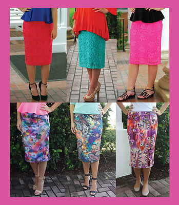 Lot of 11 pieces Juniors dressy stretch lace and poly pencil skirts; NEW
