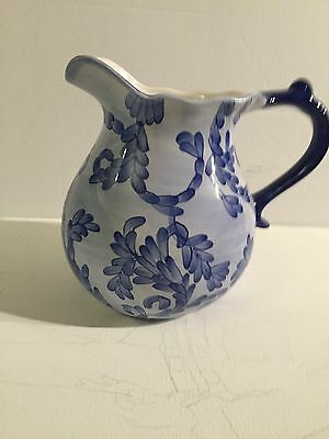 Beautiful Blue And White Water Pitcher