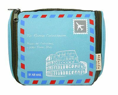 5 x Blue Travelholic polyester Toiletry Pouch