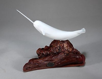 NARWHAL Figurine New direct from JOHN PERRY 9in long on Wood Statue