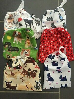 Poo bags holder for dogs handcrafted assorted designs with lobster clips NEW