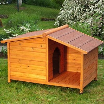 Wood Dog Kennel Sturdy Outdoor Pet House Weather Proof Winter Warm Sun Dogs