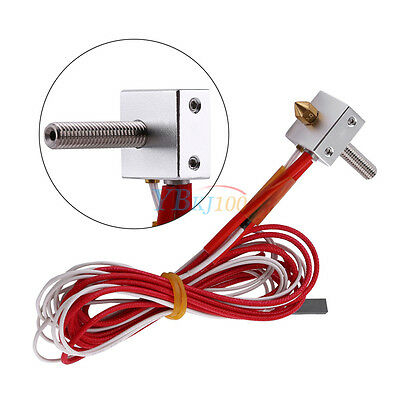 1.75mm to 0.4mm MK8 Nozzle Print Head Hot End Assembled for Extruder 3D Printer