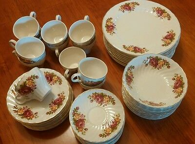 Wood and Sons England Cottage Rose Ironstone 12 piece dinner set