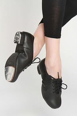 Leather Oxford Professional quality lace up Tap Shoes Black