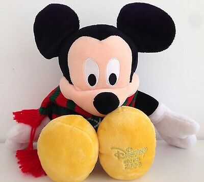 Christmas Mickey Mouse Disney Store Soft Plush Toy