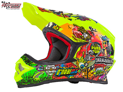 O'Neal 3Series Crank Helm 2018 Neon Motocross Enduro Cross Helm