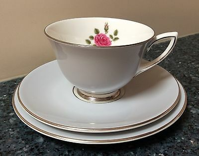 Royal Doulton Chateau Rose Cup, Saucer & Side Plate Trio Made in England