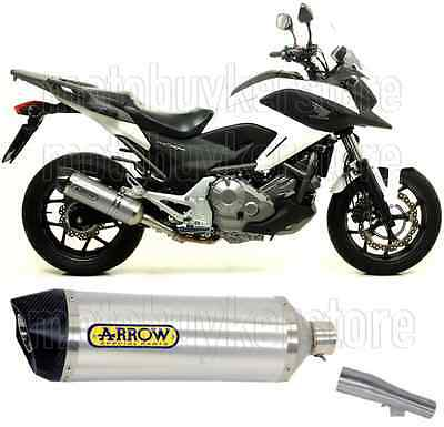 Arrow Kit Muffler Exhaust Racetech Aluminium Carby-Cup Honda Nc 700 X 2012 12