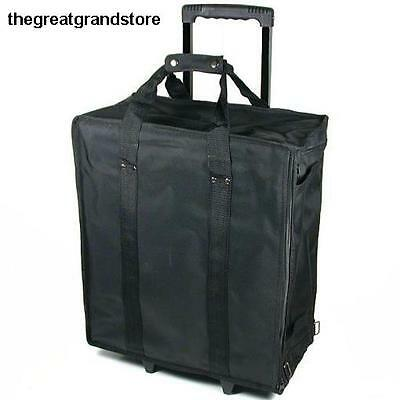 Large Jewelry Display Rolling Carrying Case Trays Premium Fabric Way Air Storage