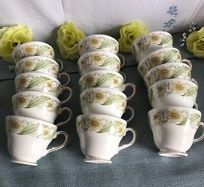 """Duchess Bone China """"greensleeves"""" 348 Cups X 15 All In Excellent Condition"""